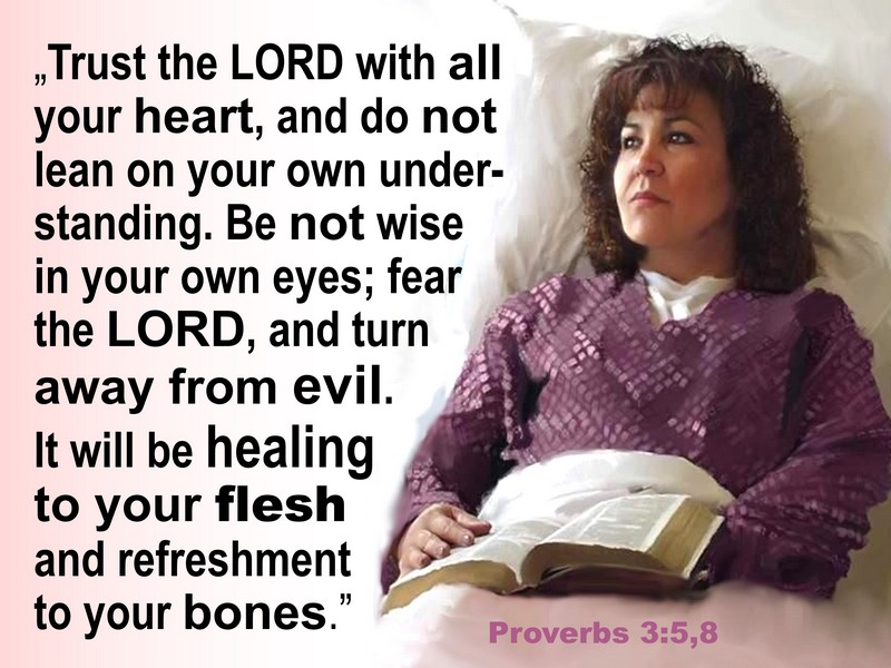 TRUST GOD TO RECOVER FROM CANCER