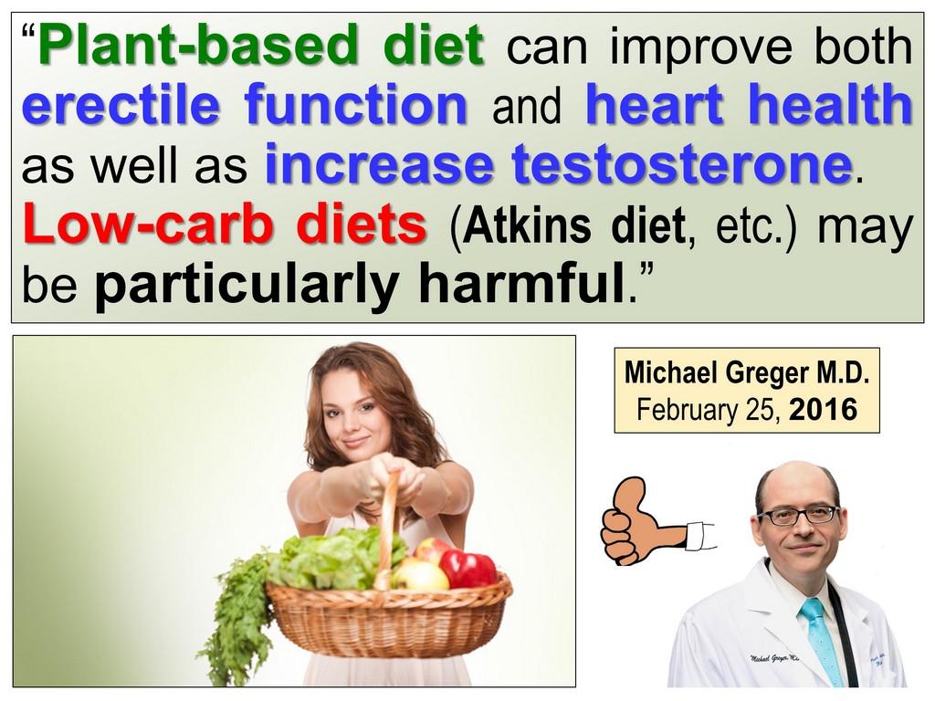 PLANT-BASED VEGETARIAN DIET CURES Erectile Disfunction