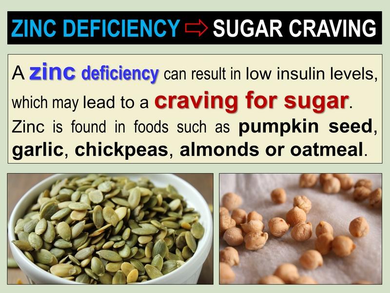 zinc deficiency sugar cravings