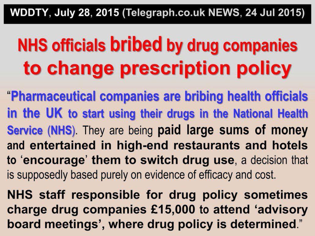 Big pharma & NHS CORRUPTION
