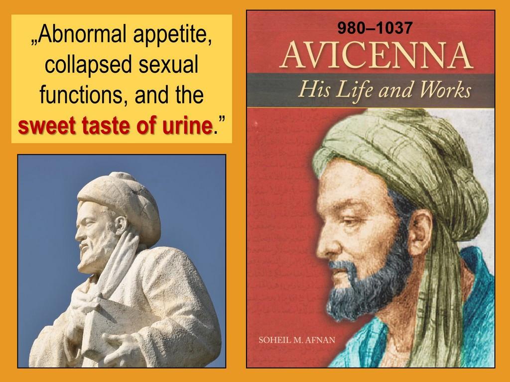 Avicenna sweet urine diabetes mellitus