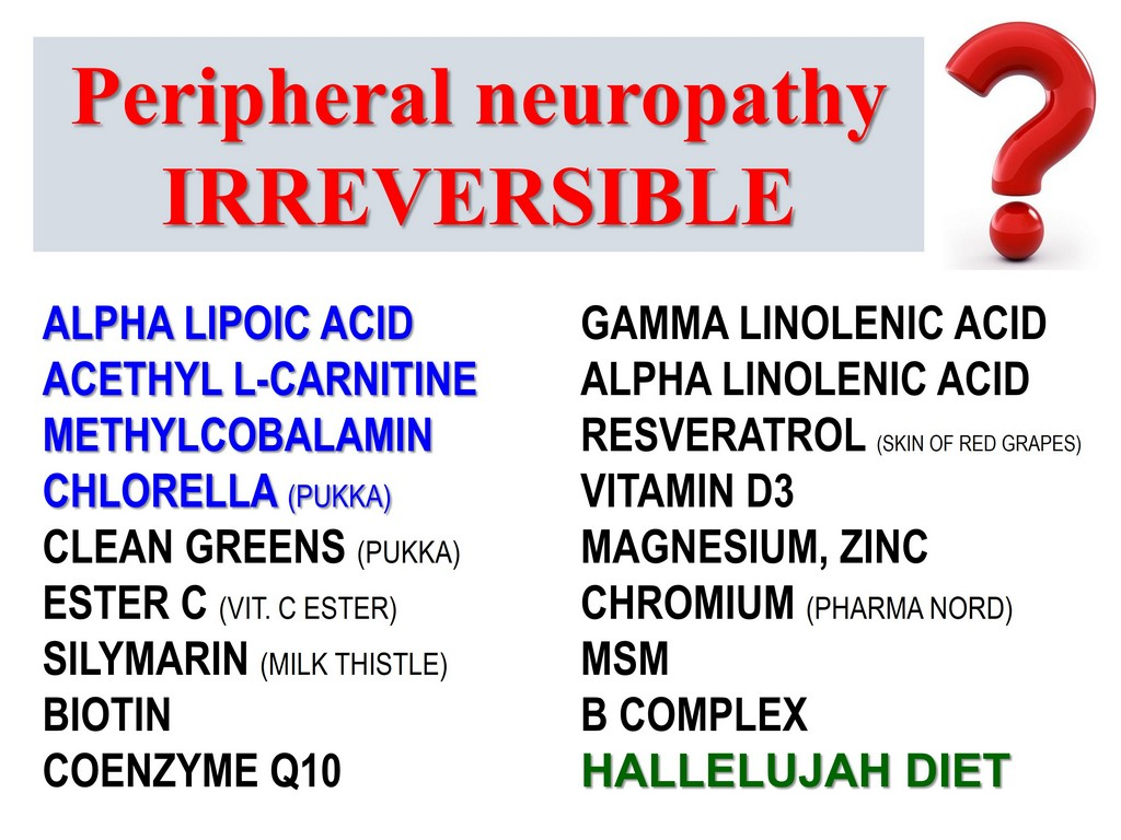 PERIPHERAL NEUROPATHY CURES REMEDIES