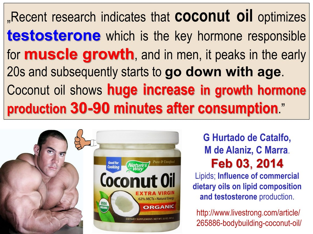 ANDROPAUSE (LOW TESTOSTERONE) - COCONUT OIL, HUGE MUSCLE GROWTH