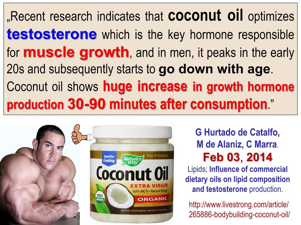 COCONUT OIL FOR TESTOSTERONE