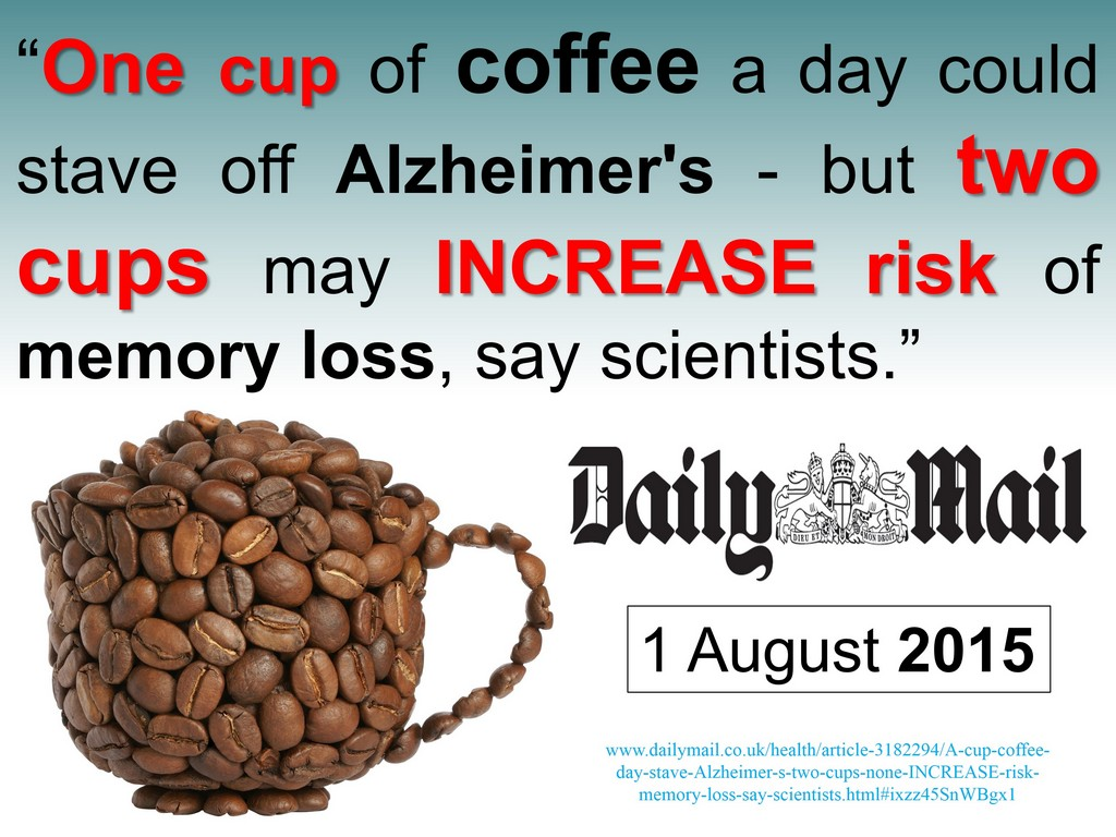 Alzheimer's coffee