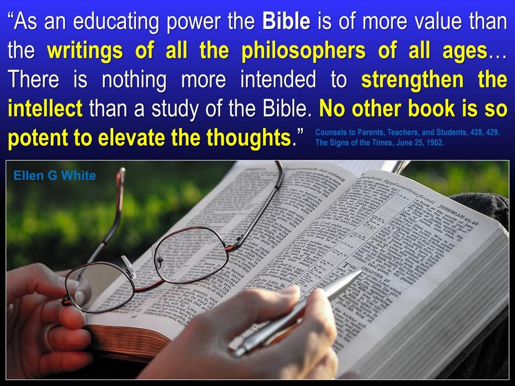 Alzheimer's Bible intellect