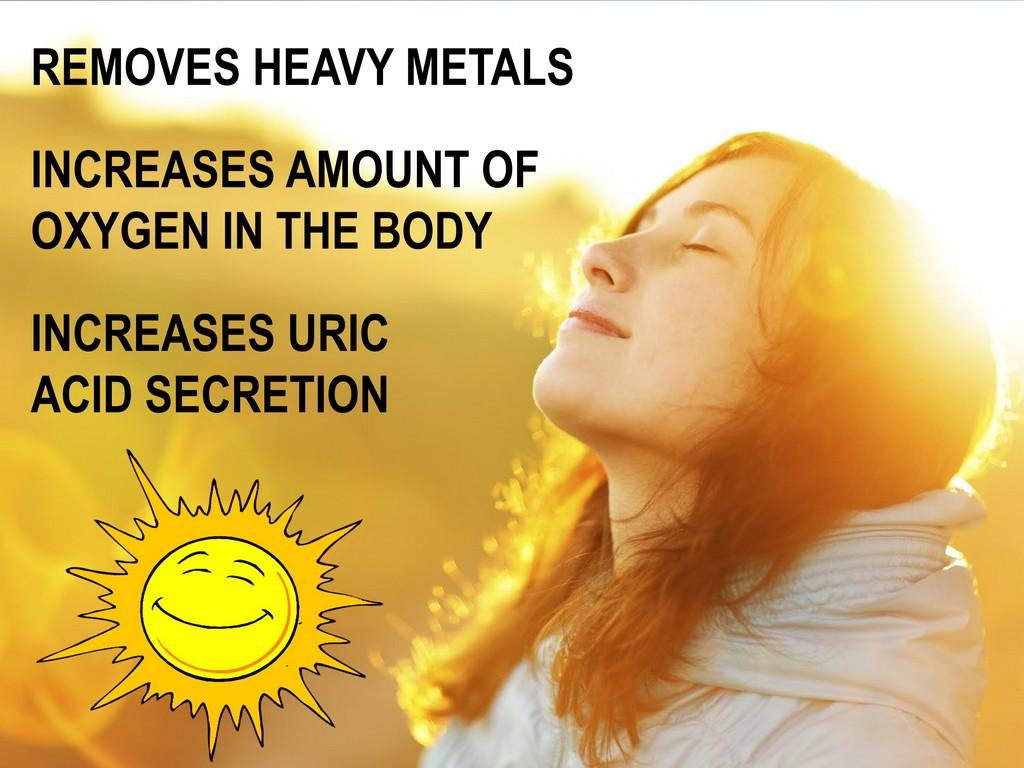 Amazing benefits of the sun