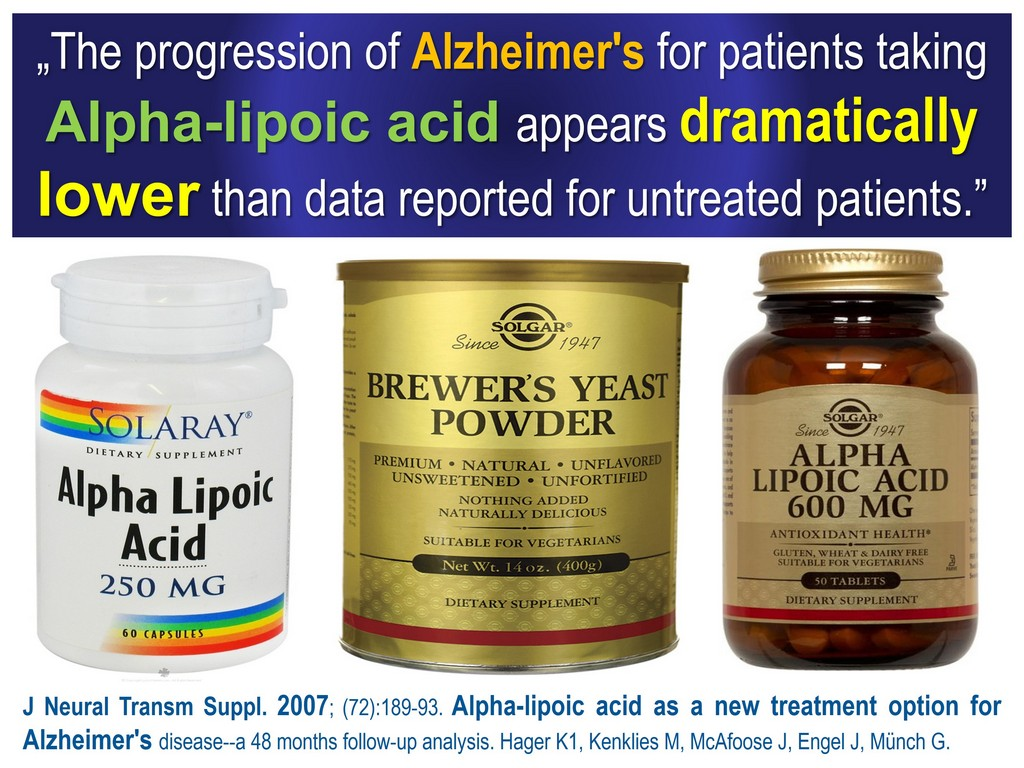 Alzheimer's Alpha lipoic acid