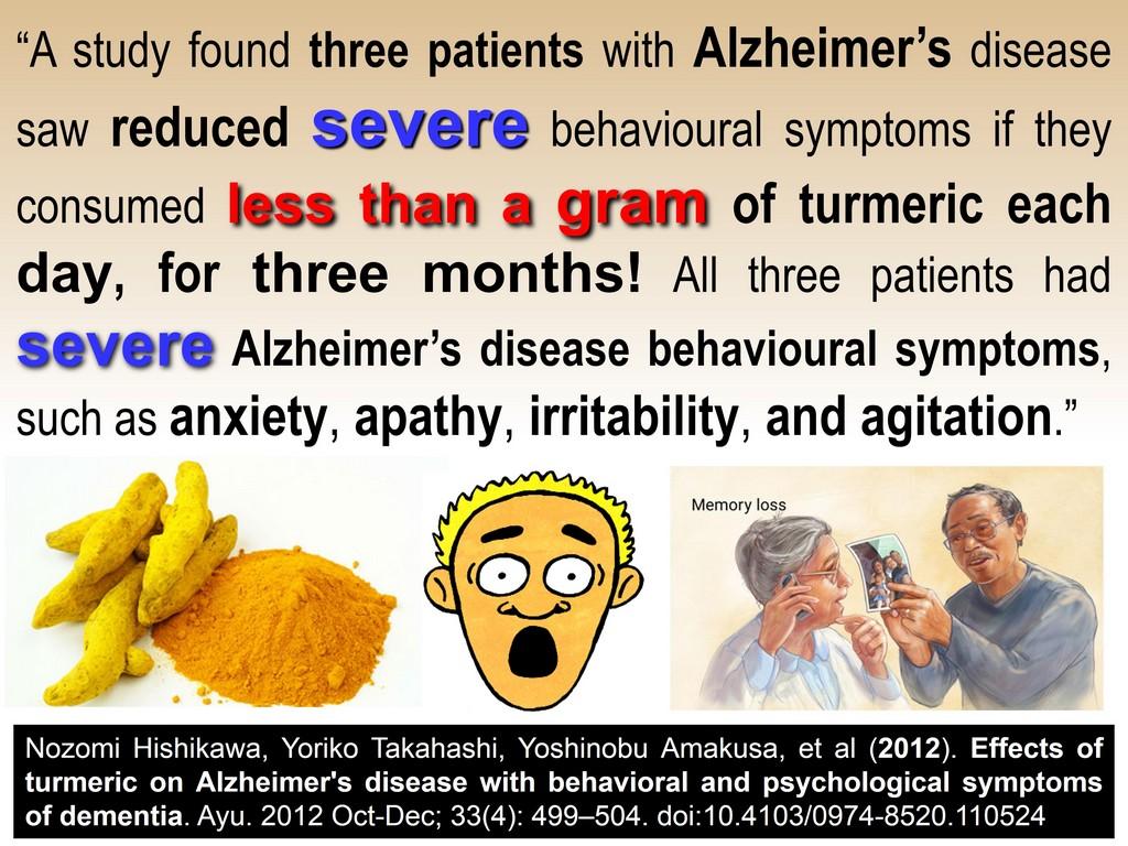 Alzheimer's recovery turmeric curcumin