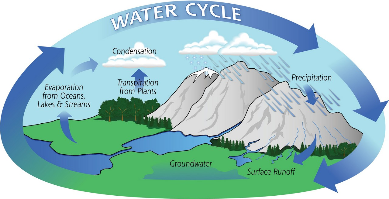 water cycle - distilled water the best