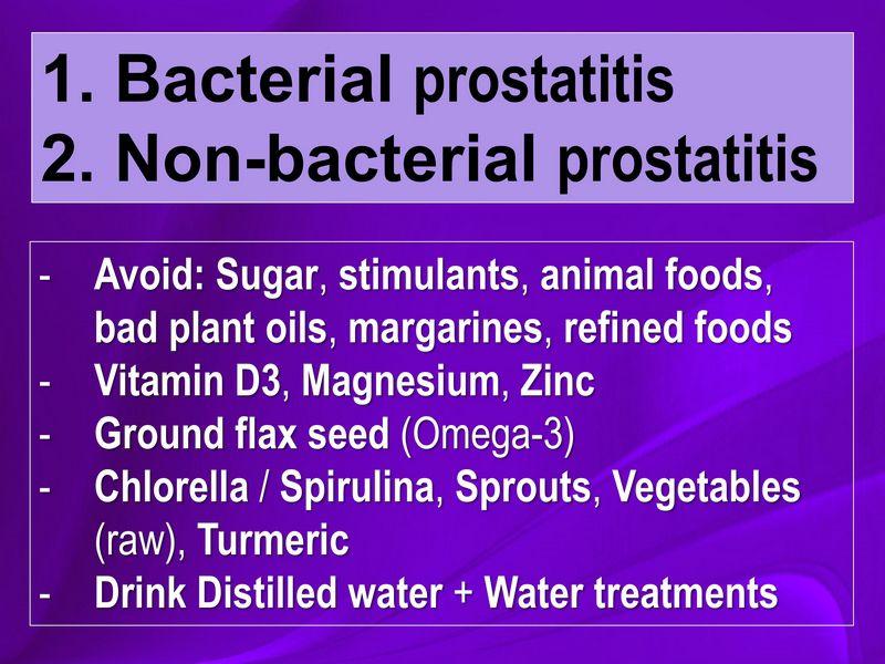 Prostatitis - effective natural treatment