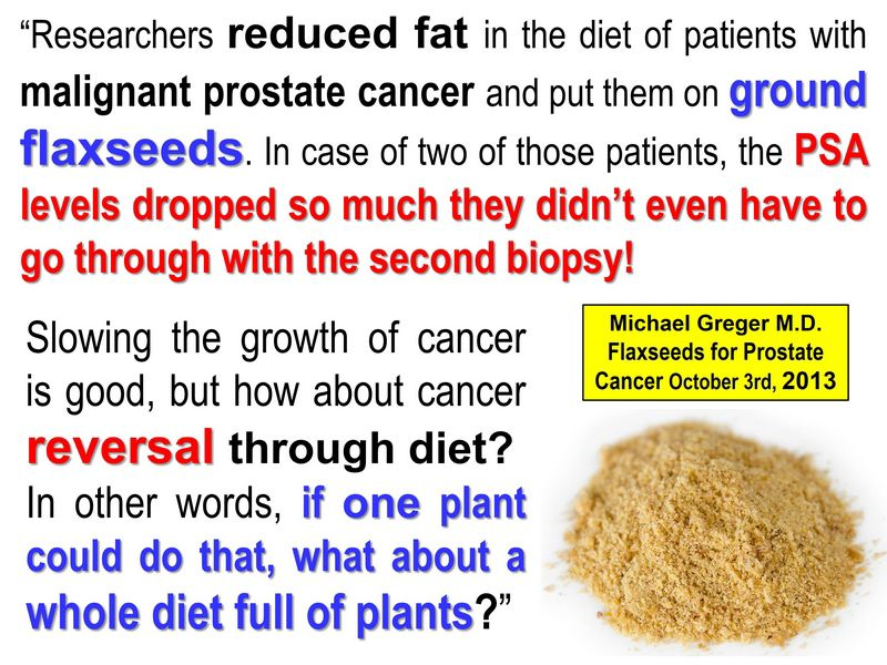 Flaxseed Prostate Cancer