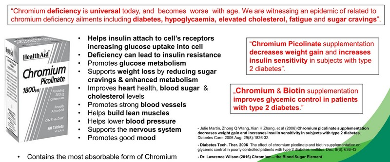 chromium benefits diabetes